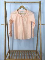 Ann Taylor LOFT Women's Orange Pullover Light Top Blouse Size XSP