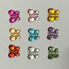 DIY 100PCS mix resin Butterfly Bead flatback Scrapbook/ Craft Flatback Beads