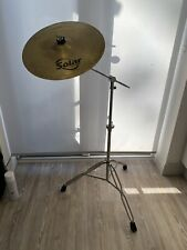 Heavy Boom Cymbal Stand & Sabian 16in Crash Cymbal For Drum Kit. Free P&P