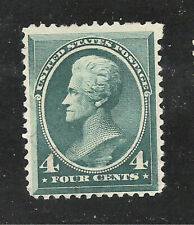 U.S. Scott 211 Jackson 4 cent blue green unused no gum.