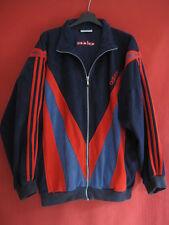 Veste Adidas années 80 Vintage velour Marine et rouge 80'S jacket - 186 / XL