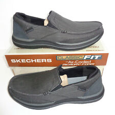 Skechers Mens Memory Foam Black Slip On Trainers Loafer Shoes New UK Size 5.5-13