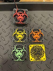 50mm Computer CPU Fan Cover, Arrma Kraton Outcast 8s Motor Fan 3D BIO Hazard