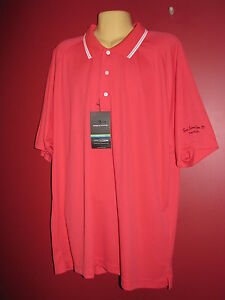 PAGE & TUTTLE Men's Cool Swing Coral Performance Polo Shirt - Size 2XL - NWT $55
