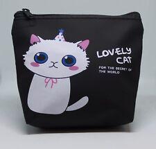 KIDS CAT PURSE MAKE UP BAG/COIN PURSE/WALLET  ZIPPER BAG