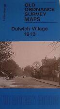 Old Ordnance Survey Map Dulwich Village near Streatham London 1913 S127 New