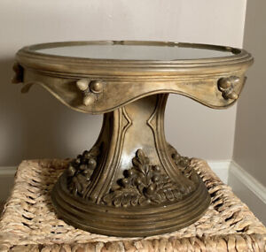 Southern Living At Home Ornate Pedestal Cake Rustic Resin Stand Acorn