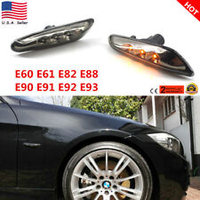 LED Black Side Marker Lights Turn Signal For BMW E60 E61 E82 E88 E90 E91 E92 E93