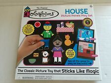 Colorforms House Picture Panels Playset, 220 Forms, Play Board, Kahootz Toys New