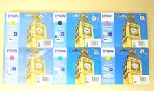 Lot 6 Cartouche Original EPSON Big Ben T7031 T7032 T7033 T7034 Genuine WorkForce