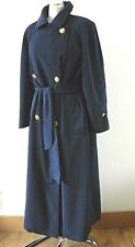 Ladies WINDSMOOR Blue Long LIGHTWEIGHT MAC TRENCH RAINCOAT 10 UK