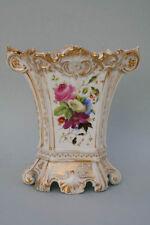 Vase mit Blumen und Früchten, Porzellan, um 1860