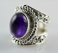 Amethyst Ring 925 Solid Sterling Silver Handmade Jewelry (US-AMY-004)