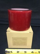 Longaberger Pint Size Pillar Scented Candle McIntosh Apple Nib #70115