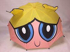 "PowerPuff Girls - GIANT Bubbles Face  26"" Umbrella w BUBBLES HANDLE"