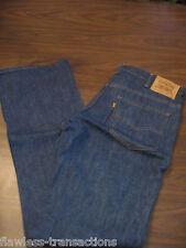 LEVI JEANS VINTAGE 517 Orange Tab Bootcut Denim Blue Jeans Levis 34 x 34 NEW
