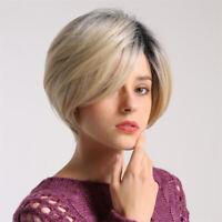 4X 12 pouces femmes durable perruque de cheveux humains courte perruque