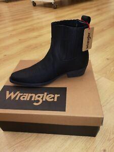 Men's Wrangler Tex Mid Black Cowboy Boots Sizes 7, 8, 9, 10, 11 & 12