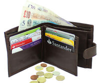 MENS LUXURY QUALITY SOFT REAL LEATHER WALLET CREDIT CARD HOLDER PURSE 340 BROWN