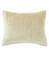 New Southern Living pillow sham Alston Hummus Beige King velvet quilted