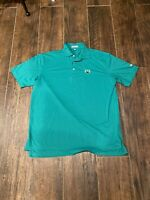 Peter Millar Summer Comfort Polo Golf Shirt Solid Green Men's Size Large