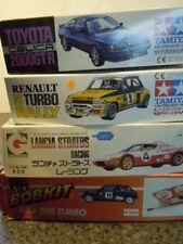 4 seltene ungebaute Lancia,Renault/Peugeot/Toyota Rallye Kits  in1:24