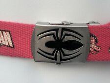 Marvel Spiderman Red Adjustable Belt - Age 7-10 - Great Condition