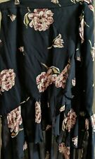 Witchery 16 Floral Long Ruffle Mock Wrap Skirt BNWT