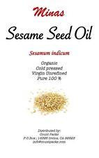 Premium UNREFINED Sesame Seed Oil Pure Organic Cold Pressed Best Fresh 4 Oz.