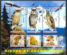 Chad 2010 Birds Owls & Mushrooms III Mountains Eagles Sheet of 6 MNH** Privat !