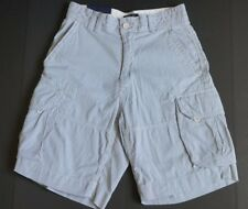 NEW POLO RALPH LAUREN BLUE WHITE CLASSIC FIT COTTON CARGO SHORTS 29