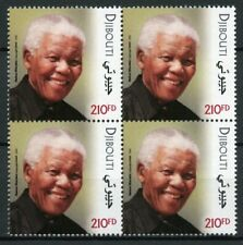 Djibouti Nelson Mandela Stamps 2018 MNH Joint Issue PAPU Famous People 4v Block