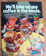 1972 Sanka Coffee Ad  Boxing Theme We'll Take on Any Coffee in the House