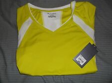 Tek Gear Womens Medium Light Green and White Athletic Shirt