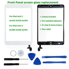 White Touch Screen Glass Digitizer Replacement IC Chip Home for iPad Mini 1 2
