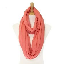 Pink Colored Solid Infinity Scarf