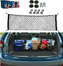 Universal Parts Car Rear Cargo Storage Organizer Elastic Mesh Net Plus Mounting