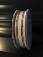 Stampin Up Striped Cotton Ribbon, Brand New, 10 Yards, BlackBerry Bliss