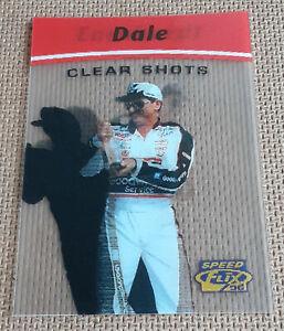 Dale Earnhardt 1996 Pinnacle Speedflix Clear Shots Insert Card Speed Flix Scarce