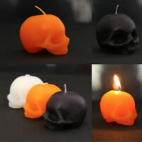 Skull Candle Black Halloween Decorations Home Haunted House Cosplay Supplies EB