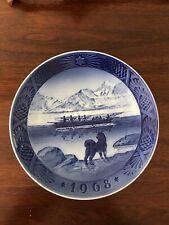 """1968 Royal Copenhagen Plate """"Kai Lange: Den Sidste Konebad (The Last Umiak)"""""""