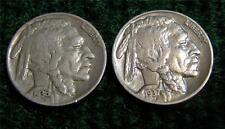 1936 & 1937  BUFFALO OR INDIAN HEAD NICKELS