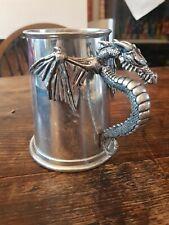 Silver Dragon Pewter Tankard by Alchemy Gothic