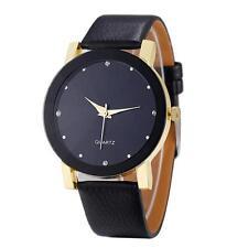 De Lujo Moda Reloj Hombre Cuarzo Sport Piel Artificial Acero Inoxidable  Esfera b7c910d7f320
