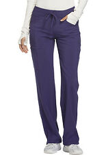Grape Cherokee Scrubs Infinity Low Rise Drawstring Pant 1123A Grp Antimicrobial