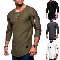 uomo casual maniche lunghe T-Shirt Slim Firmato morbido maglietta maglia maglia
