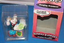 "Sunday Funnies ""POPEYE"" Popeye porcelain Christmas ornament w/ box Enesco"