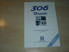 27908) Peugeot 306 Break Preise & Extras Prospekt 1999