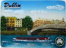 Fridge magnet,Dublin,irish souvenir,ireland 3D design gift HA'PENNY BRIDGE/DAY