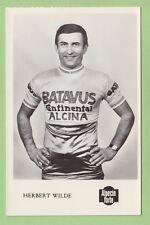 Herbert WILDE, Batavus Alcina Continental. Cycliste, cyclisme.